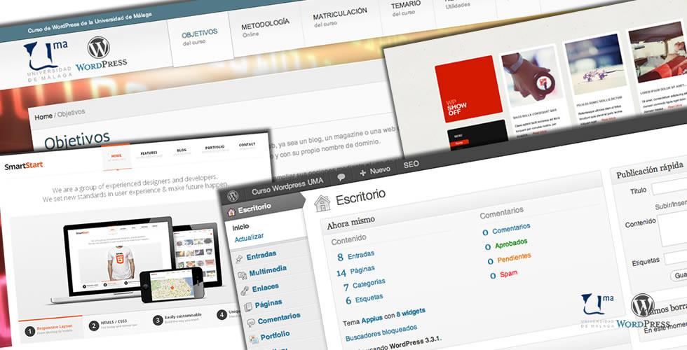 Aprende a usar WordPress con el curso online de la Universidad de Málaga